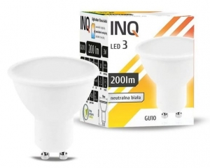Żarówka LED GU10 3W MR16 4000K INQ Lighting LR012NW