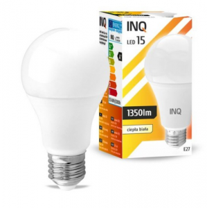 Żarówka LED E27 15W A65 3000K INQ Lighting LA052WW