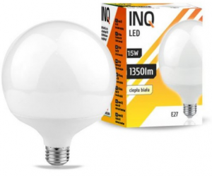 Żarówka LED E27 15W G120 3000K INQ Lighting LDG060WW