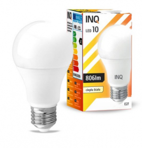 Żarówka LED E27 10W A60 3000K INQ Lighting LA034WW