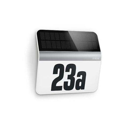 Lampa solarna LED numer domu budynku Czujnik Zmierzchu naklejki